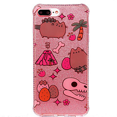 For Double IMD Case Back Cover Case Cat And Bone Pattern Soft TPU Apple iPhone 7 7 Plus 6s 6 Plus SE 5s 5
