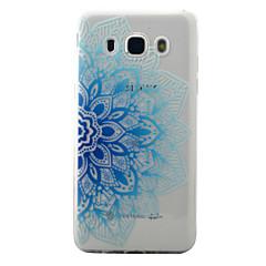 Για το γαλαξία samsung j5 j3 (2016) περίπτωση κάλυψης μπλε μισό λουλούδια μοτίβο ζωγραφισμένα tpu υπόθεση τηλέφωνο τηλέφωνο