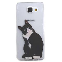 Mert Átlátszó / Minta Case Hátlap Case Cica Puha TPU mert Samsung A5(2016) / A3(2016)