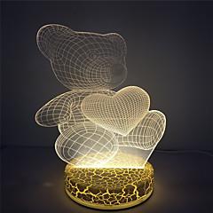 2016 Wholesale Heart Bear Cute 3D Effect Led Table Light