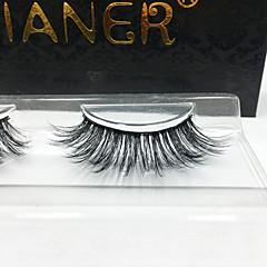 3D Eyelashes lash Full Strip Lashes Eyes Crisscross / Thick Lifted lashes / Volumized Handmade Fiber Black Band 0.07mm