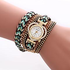 Women's Fashion Watch Wrist watch Bracelet Watch Colorful Imitation Diamond Rhinestone Quartz PU BandVintage Heart shape Bohemian Charm Strap Watch