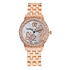 Mujer Reloj de Vestir / Reloj de Moda / Reloj de Pulsera / Reloj Pulsera Cuarzo Colorido / Esfera Grande / Punk Aleación BandaCosecha /