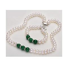 Γυναικεία μαργαριτάρι σκέλη Μαργαριτάρι Αχάτης Βασικό Κοσμήματα Για Γάμου Πάρτι