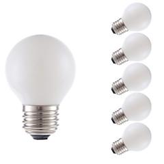 2W E26 LED Filament Bulbs G16.5 2 COB 200 lm Miky White Dimmable 120V 6 pcs