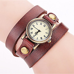 Women's Fashion Watch Wrist watch Bracelet Watch Punk Colorful Quartz Leather Band Vintage Bohemian Charm Bangle Cool CasualBlack White