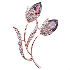 Women's Fashion Alloy/Rhinestone/Crystal Flower Brooches Pin Party/Daily/Casual Jewelry Accessory 1pc