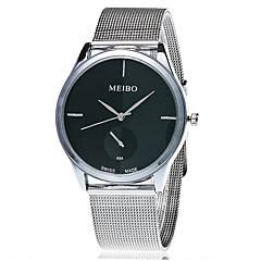 Herr Damers Par Unisex Modeklocka Armbandsur Quartz Rostfritt stål Band Vintage Fritid Silver Stämpla Xu™