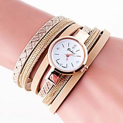 Women's Fashion Watch Wrist watch Bracelet Watch Quartz Colorful PU Band Vintage Bohemian Charm Bangle Cool CasualBlack White Blue Grey