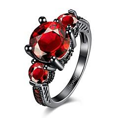 Ringe Hochzeit / Party / Alltag / Normal Schmuck Zirkon / Kupfer Damen Ring / Verlobungsring 1 Stück,6 / 7 / 8 Rot / Lila