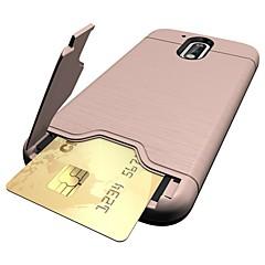 Voor Kaarthouder / met standaard hoesje Achterkantje hoesje Effen kleur Hard PC voor Motorola MOTO G4 / Moto G4 Plus