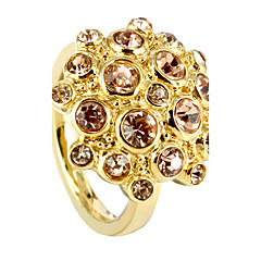 Luxurious Full CZ Stones Inlay Flower Shape 316L Stainless Steel Ring