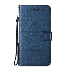 Varten Korttikotelo / Lomapkko / Tuella / Flip / Koristeltu Etui Kokonaan peittävä Etui Elefantti Kova Tekonahka varten AppleiPhone 7