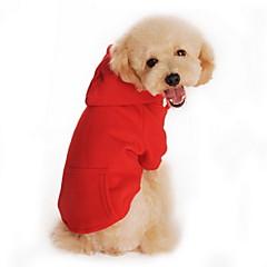 Gatos / Perros Saco y Capucha Rojo / Naranja / Negro / Gris Ropa para Perro Invierno / Primavera/Otoño Un Color Casual/Diario / Deportes