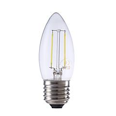 2W E26/E27 Lampadine LED a incandescenza B 2 COB 250 lm Bianco caldo / Luce fredda AC 220-240 V 1 pezzo