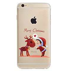For iPhone 7 etui iPhone 6 etui iPhone 5 etui Mønster Etui Bagcover Etui Jul Blødt TPU for AppleiPhone 7 Plus iPhone 7 iPhone 6s Plus/6