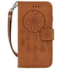 """Для Кошелек / Бумажник для карт / Рельефный Кейс для Чехол Кейс для Рисунок """"Ловец снов"""" Твердый Искусственная кожа для SamsungS7 edge /"""