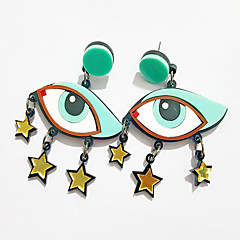 Earring / Stud Earrings Jewelry Women Wedding / Daily / Casual Alloy 1 pair Aqua