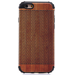 Til iPhone 8 iPhone 8 Plus iPhone 7 iPhone 6 iPhone 5 etui Etuier Stødsikker Mønster Bagcover Etui Imiteret træ Hårdt PC for Apple iPhone