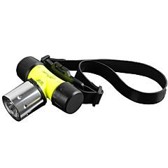 Iluminación Linternas LED Linternas de Cabeza Linternas de Mano LED 1800 Lumens 3 Modo Cree XM-L T6 18650.0 AAAA Prueba de Agua