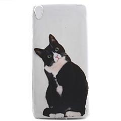Sony xperia e5 xa -kotelon kannessa musta kissa kuvio korkea läpäisevyys maalaus tpu materiaali puhelinkotelo