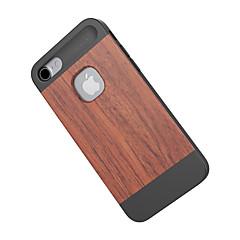 Varten Iskunkestävä Etui Takakuori Etui Puukuvio Kova Bambu varten Apple iPhone 7