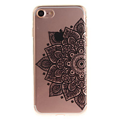 For iPhone 7 7plus 6s 6 Plus SE 5s 5 TPU Material IMD Process Black Half Flower Pattern Phone Case