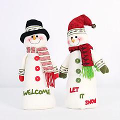 2pc kokoontaitettava kuuma myynti joulukoristeita joulupukki lumiukko christmas hahmoja