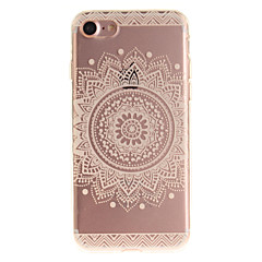 For iPhone 7 etui iPhone 6 etui IMD Etui Bagcover Etui Mandala-mønster Blødt TPU for AppleiPhone 7 Plus iPhone 7 iPhone 6s Plus/6 Plus