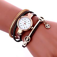 Women's Fashion Watch Wrist watch Bracelet Watch Quartz Colorful PU Band Vintage Bohemian Charm Bangle Cool CasualBlack White Blue Red