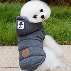 Psy Płaszcze Bluzy z kapturem Yelek Ubrania dla psów Zima Wiosna/jesień Jendolity kolor Modny Zatrzymujący ciepło Gray Niebieski
