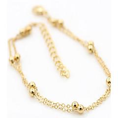 Kadınların altın gümüş alaşımlı halhal 2pc