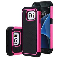 Varten Samsung Galaxy S7 Edge Iskunkestävä Etui Takakuori Etui Panssari PC SamsungS7 edge / S7 / S6 edge plus / S6 edge / S6 / S5 Mini /