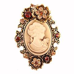 kadın moda Retro alaşım / yapay elmas broş şık pin parti / günlük / gündelik takı aksesuar 1pc