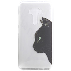 Για Ημιδιαφανές / Με σχέδια tok Πίσω Κάλυμμα tok Γάτα Μαλακή TPU για Asus Asus ZenFone 3 (ZE552KL)(5.5) / Asus Zenfone 3 ZE520KL (5.2)