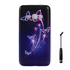 For Samsung Galaxy J7 J5 J3 J1 (2016) Case Cover Butterfly Pattern Super Soft Painting TPU Material Phone CaseTouch Screen Pen