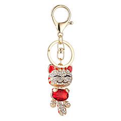 le nouvel ensemble ornement tarière plutus chat pendentif belle sac de porte-clés de voiture pendentif visage de chat souriant