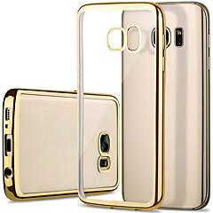 Για Samsung Galaxy S7 Edge Επιμεταλλωμένη / Διαφανής tok Πίσω Κάλυμμα tok Μονόχρωμη TPU Samsung S7 edge / S7 / S6 edge / S6