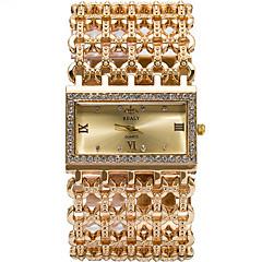 Dame Modeur Armbåndsur / Quartz Legering Bånd Sej Afslappet Sølv Guld Rose Guld