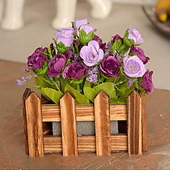 1 1 şube Plastik / Others Güller / Bitkiler / Others Masaüstü Çiçeği Yapay Çiçekler