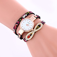 Women's Fashion Watch / Bracelet Watch Quartz / PU Band Dot / Casual Black / Blue / Red / Grey / Purple Brand
