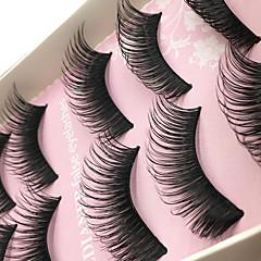 Kirpikleri Kirpik Tam Şerit Kirpikler Eyes Kalın Kaldırılmış Kirpikler Hacimlendirilmiş Elyapımı Fiber Black Band 0.10mm 15mm