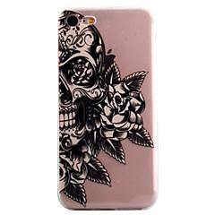 Voor Patroon hoesje Achterkantje hoesje Schedel Zacht TPU AppleiPhone 7 Plus / iPhone 7 / iPhone 6s Plus/6 Plus / iPhone 6s/6 / iPhone