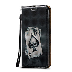 3D Relief Skull Pattern Super Magnetic Force Adsorption PU Phone Case for iPhone 7 Plus 7 6 Plus 6S 5 SE