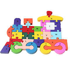 Jigsaw Puzzles Jigsaw Puzzle Building Blocks DIY Toys Train 1 Wood