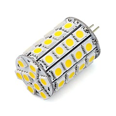 Utral Bright 5050 SMD G4 LED Corn Bulb 49 LEDs 5W for Chandelier Car Cabinet 12V DC/AC Warm/Cool White (1 Piece)