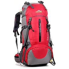 50 L Backpacker-ryggsäckar Cykling Ryggsäck ryggsäck Camping Klättring Fritid Sport Cykling Vattentät Stötsäker Andningsfunktion Oxford