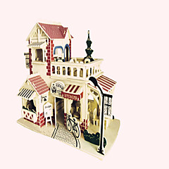 Jigsaw Puzzles Wooden Puzzles Building Blocks DIY Toys  Romantic Cafe 1 Wood Ivory Model & Building Toy