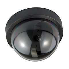 2kpl / pakkaus sisä ulkona CCTV fake nuken kupoli valvontakamera kanssa flahsing punainen led valo