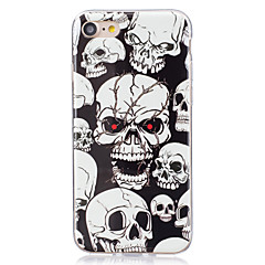 For Glow in the Dark  IMD Case Back Cover Case Skull Soft TPU for Apple iPhone 7 Plus  7  6s Plus 6 Plus   6s  6  SE 5 S5 5C
